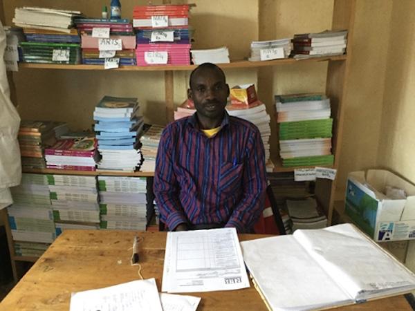 MBONIGABA Celestin, head teacher at Musabike Primary.